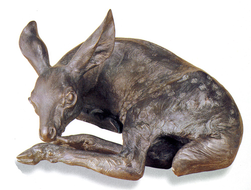 Mark Rossi, Whitetail Fawn, Bronze, life-size