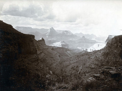 "William Henry Jackson (1843-1942) Across the Canyon, c. 1890, Silver Gelatin Print, 9"" x 12"""