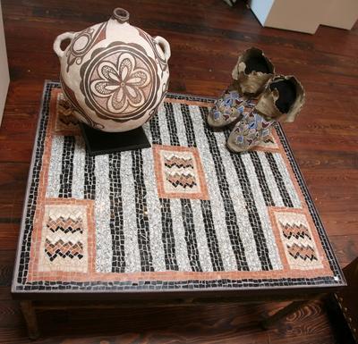 Custom Marble Mosaic Navajo Chiefs Variant by Anne Ziemienski