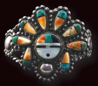 Zuni Sun God Bracelet, c. 1940