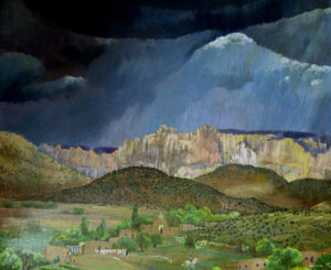 Agnes Tait, Summerstorm, Oil on Canvas