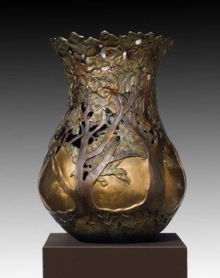 "Carol Alleman, Transitions II, Cast Bronze Edition of 12, 42"" x 25"""