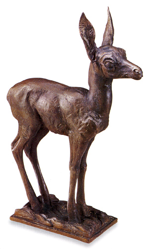 Mark Rossi, Antelope Fawn, Bronze, 27""