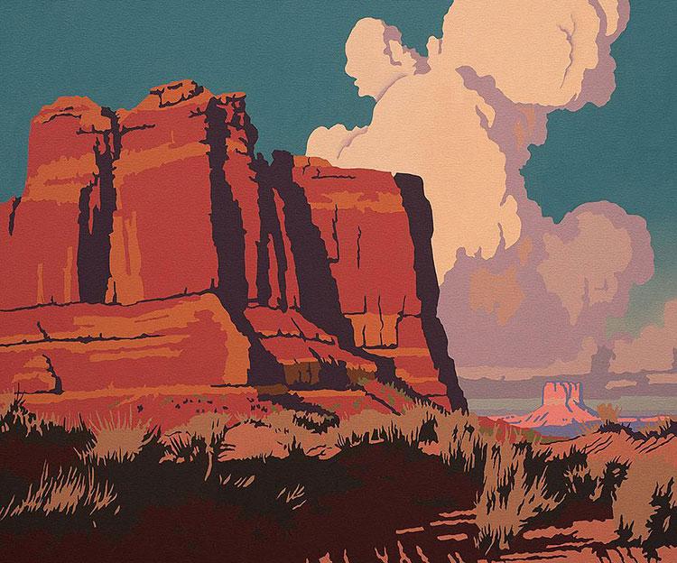 """Billy Schenck, August Heat, oil on canvas, 20"""" x 24"""""""