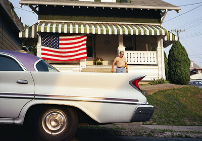 "Nathan Benn's ""Fourth of July, Pittsburgh, Pennsylvania, 1980."" Benn traveled the world, shooting photos for National Geographic. Nathan Benn / Mark Sublette Medicine Man Gallery"
