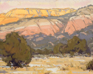 "Bill Gallen, Kaibab WInter Afternoon, Oil on Mounted Linen, 11"" x 14"""