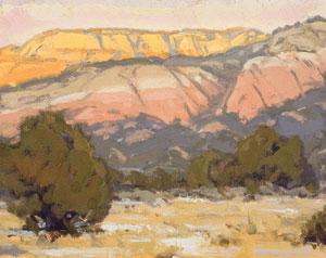 "Bill Gallen, Kaibab WInter Afternoon, Oil on Mounted Linen, 11"" x 14"""