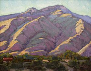 "Bill Gallen, The Coming Evening, Oil on Mounted Linen, 11"" x 14"""