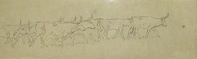 "Edward Borein, Pencil Sketches, 4"" x 14"""