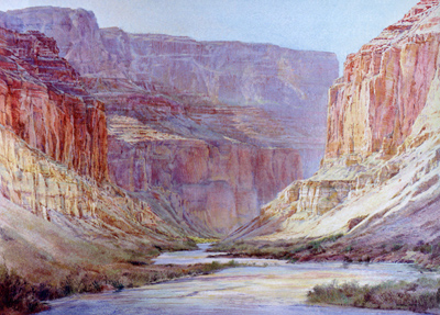 Merrill Mahaffey, Canyon Morning, Acrylic on Canvas, 60 x 84