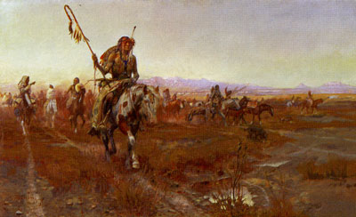 Charles Marion Russell, The Medicine Man, 1908, Oil on Canvas, Amon Carter Museum, Fort Worth, TX
