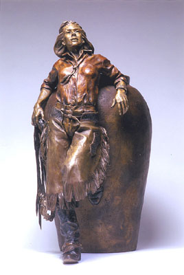 "Deborah Copenhaver-Fellows, She Rode Good Horses, Bronze Edition of 35, 31"" x 14"" x 23"""