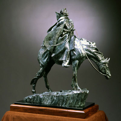 "Deborah Copenhaver-Fellows, Trail of Dreams, Bronze Edition of 50, 28"" x 26"" x 10.5"""