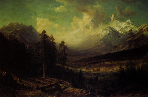Albert Bierstadt (1830-1902) Estes Park, Long's Peak, 1877, Oil on Canvas, 62 x 98, Denver Public Library, Western History and Genealogy Department, Fig 11
