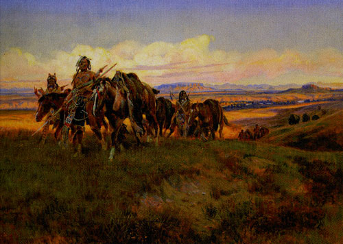 Charles M. Russell (1864-1926) In the Enemy's Country, 1921, Oil on Canvas, 24 x 36, Denver Art Museum, gift of the Magness family in memory of Betsy Magness, Fig 12