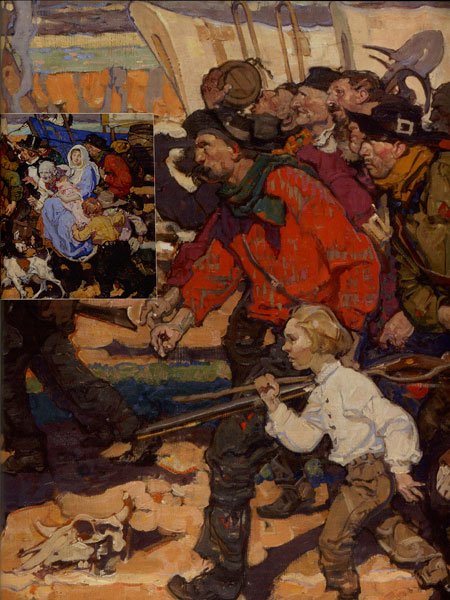 Dean Cornwell (1892-1960), Gold Rush II, 1926, Oil on Canvas, 32 x 68, Image is cropped, Denver Art Museum, William Sr. and Dorothy Harmsen Collection, Fig. 2, 2a