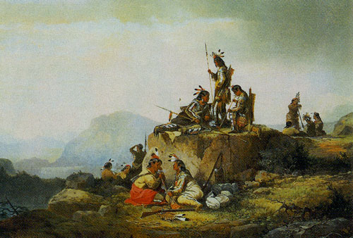 John Mix Stanley (1814-1872), Group of Piegan Indians, 1867, Oil on Canvas, 27 x 41, Denver Public Library, Western History Department, Fig. 4
