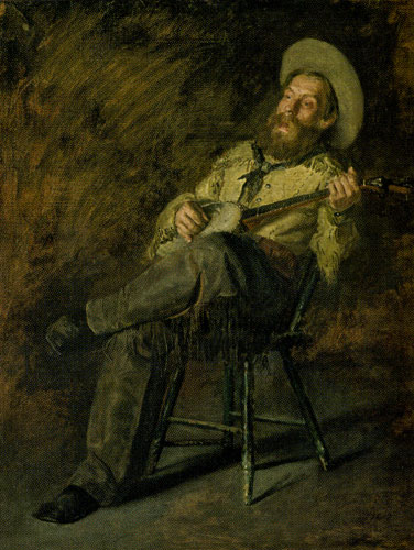 Thomas Eakins (1844-1916) Cowboy Singing, 1892, Oil on Canvas, 24 x 20, Denver Art Museum and the Aschutz Collection, purchased in honor of Peter H. Hassrick and by exchange from funds from 1999 Collectors' Choice, Sharon Magness, Mr. and Mrs. William D. Hewit, Carl and Lisa Williams, Estelle Rae Wolf - Flowe Foundation, and the T. Edward and Tullah Hanley collection, Fig 15