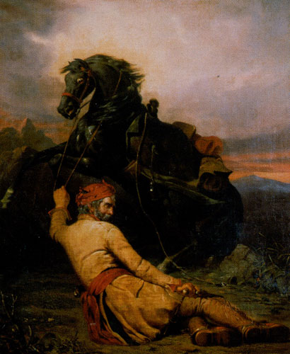 William Ranney (1813-1857) The Wounded Trapper, 1852, Oil on Canvas, 35 x 29.25, Private Collection, Fig. 9