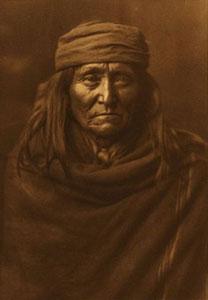 "Edward Sheriff Curtis, Eskadi - Apache, Framed Photogravure, circa 1903, 17"" x 12"""