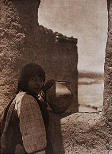 "Edward Sheriff Curtis, Timu - Cochiti, Photogravure, 22"" x 18"""