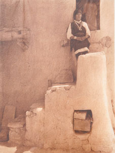 "Edward Sheriff Curtis, A Paguate Entrance, Framed Tissue Photogravure, circa 1925, 16"" x 12"""