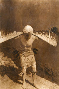 "Edward Sheriff Curtis, Eagle Dancer San Ildefonso, Photogravure, 7"" x 5"""