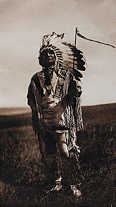 "Edward Sheriff Curtis, Arikara Chief, Photogravure 22"" x 18"""