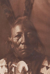 "Edward Sheriff Curtis, Ring Thunder - Brule', Framed Photogravure, circa 1907, 7.25"" x 5.25"""