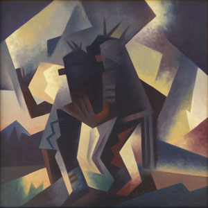 "Ed Mell, Time and Spirit, Oil on Canvas, 24"" x 24"""