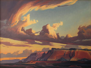 "Ed Mell, Western Cliffs, Oil on Linen, 30"" x 40"""