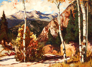 "Fremont Ellis, Red River Canyon, Oil on Canvas Board, Circa 1925-30, 21"" x 29"""