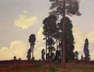 "Ernest Martin Hennings, Towering Pine, Circa 1915, Oil on Canvas, 25"" x 30"""