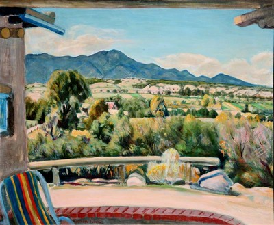 "Joseph Fleck, The Ranchos Valley, Oil on Panel, 25.25"" x 30"""