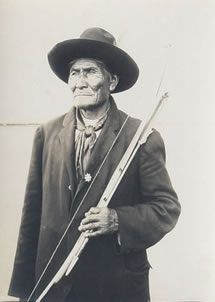 "Charles Henry Carpenter, Geronimo, photograph, c. 1904, 9"" x 7"""