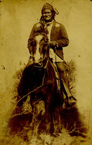 "C. S. Fly (1849-1901) Photo of Geronimo No. 188, c. 1886, 8.5"" x 5.25"""