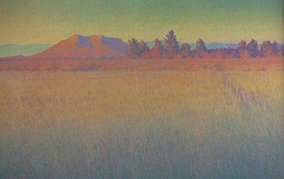Glenn Renell, Rancho con Arboles, oil, 36 x 58