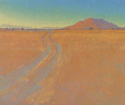 Glenn Renell, Sulphur Springs Track, oil, 9.75 x 11