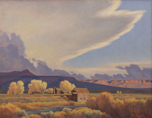 "Edith Hamlin, Homestead on the Sevier, Oil on Canvas, c. 1948, 25"" x 30"""