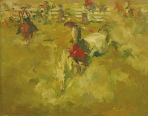 "Armin Carl Hansen, Cowboys, Oil on Canvas Board, c. 1920, 16"" x 20"""