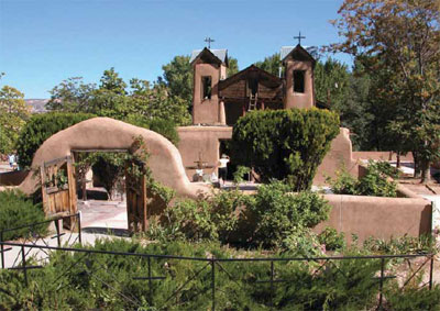 A view of Santuario de Chimayo, Chimayo, New Mexico