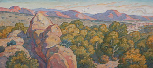 Howard Post - Panel 1, Oil on Canvas, 10 x 20 LDS Temple, Phoenix, AZ