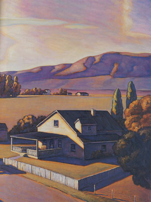 Howard Post, Neighbors, Oil, 36 x 48 (Image is cropped)