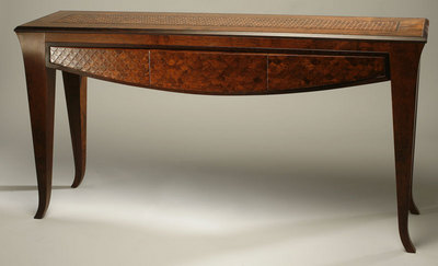 "Kevin Irvin, Imbuya Console Table, 32"" x 62"" x 17.5"" Imbuya (brown) wenge"