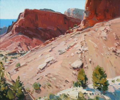"Josh Elliott, Outside Abiquiu, Oil on Panel, 10"" x 12"""