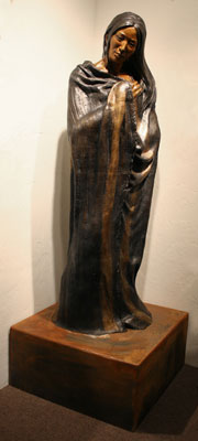 "Susan Kliewer, Changing Woman, Bronze, 60"" x 21"" x 12"""