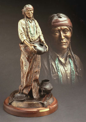 "Susan Kliewer, Julian, Bronze Edition of 45, 28"" x 12"" x 12"""