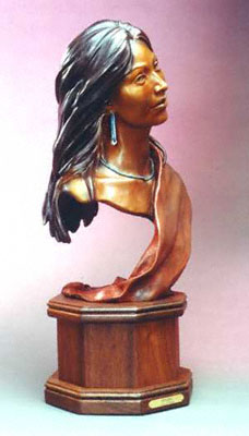 "Susan Kliewer, Kinaalda: Coming of Age, Bronze Edition of 50, 11"" x 12"" x 27"""