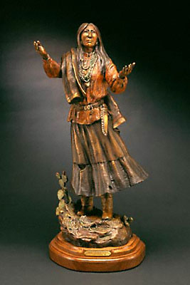 "Susan Kliewer, Lozen-Warrior Woman, Bronze Edition of 45, 11"" x 10"" x 28"""