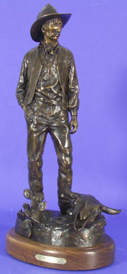 "Susan Kliewer, Maynard Dixon: At Last I Shall Give Myself to the Desert Again, Bronze Edition of 45, 24"" x 12"" x 9"""